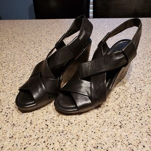 Cole Haan SZ 7.5 leather wedges shoes